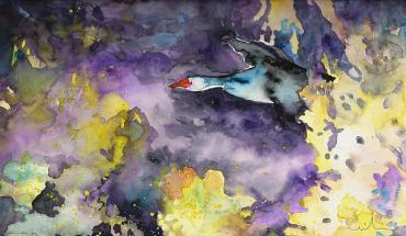 """Wild Goose Flying"" by Miki do Goodaboom"