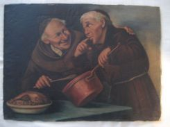 """Cooking Monks"" by Lucius Rossi (c.1895)"