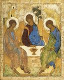 """The Trinity"" by Andrei Rublev (15th century)"